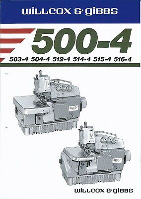 Sewing Machine Brochure - Willcox & Gibbs - 500-4 series - 1986 (E3923)