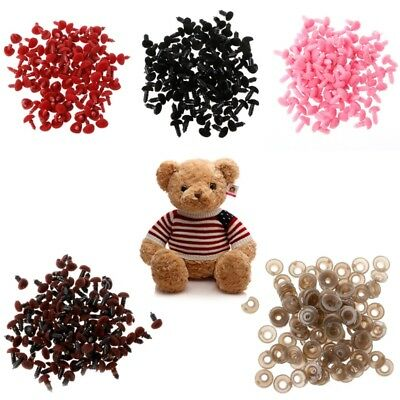 100Pcs Plastic Safety Triangle Velvet Noses For Teddy Bear Doll Animal Puppet