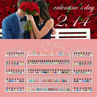 5Tier Nail Polish Display Mount Organizer Wall Rack Stand Holder Valentines Gift