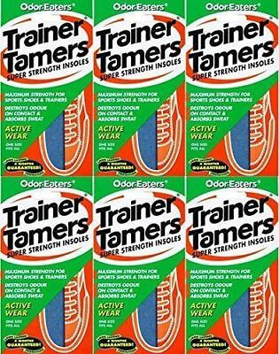 6 x ODOR-EATERS TRAINER TAMERS SUPER STRENGTH INSOLES.WASHABLE GOOD VALUE