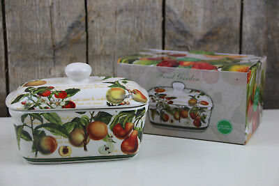 The Leonardo Collection - Butterdose Porzellan - Fruit Garden - Früchte Garten