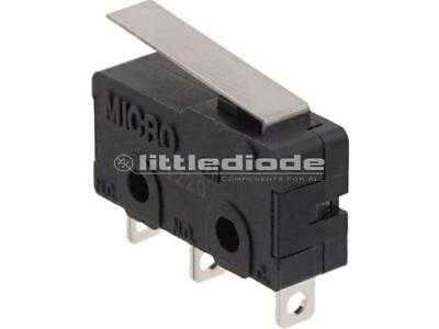 MKV11D13 Microswitch with lever SPDT 6A//250VAC 5A//24VDC ON-ON IP40