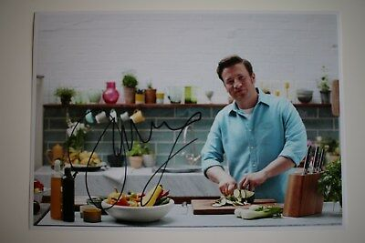 Jamie Oliver The Naked Chef signed 20x30cm Foto Autogramm Autograph In Person 1