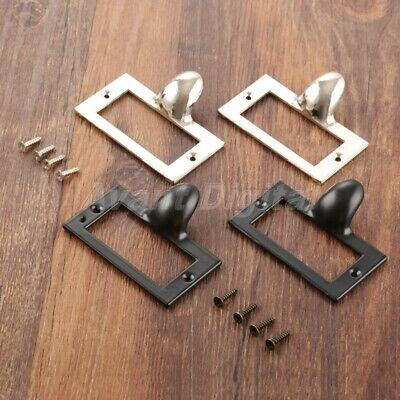 2pcs Cabinet Frame Handle Label Tag Cupboard Drawer Pull File Name Card Holder