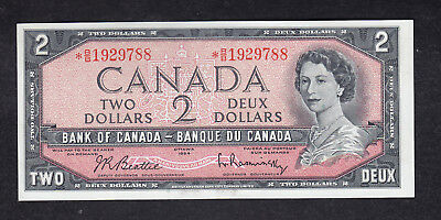 1954 Canada 2 Dollars Replacement Bank Note Beattie