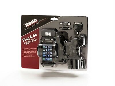 Echo Plug and Go Handlebar Phone Holder and Charger IPhone Droid LG Smartphones