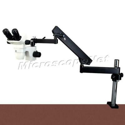 6.7X-45X Zoom Stereo Microscope+Articulating Arm Stand+144 LED Ring Light
