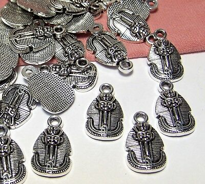 Bulk Wholesale Lot-50 Silver Ancient Egyptian Charms-Pharaoh-King Tut-Jewelry