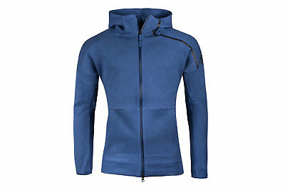 adidas Mens ZNE 2 Full Zip Hooded Top Hoody Hoodie Training Sweat Blue