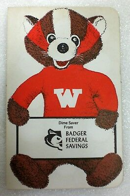 1960s Dime Saver Folders Books From Badger Federal And Loan Milwaukee WI