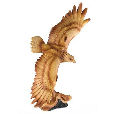 Eagle Carved Wood Look Figurine Resin 9 Inch High New In Box