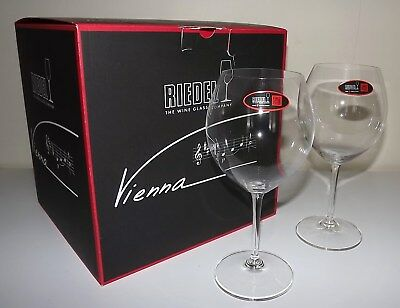 New Riedel Vienna Lead-Free Crystal Concentrated Red Wine Glasses Set Of 4