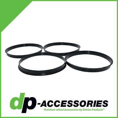 Set of 4 Polycarbonate Plastic Hub Centric Rings 125mm OD 117mm ID HubCentric