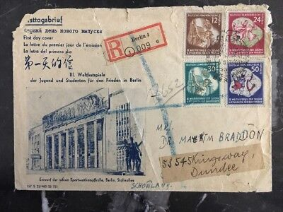 1951 Berlin East Germany DDR First Day Cover FDC To Dundee Scotland
