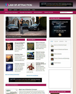 Law Of Attraction Blog Website With Affiliate Store & Free Domain