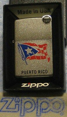 ZIPPO  PUERTO RICO  FLAG  Lighter  BLUE  RED   Mint In Box  NEW  STOCK  2017