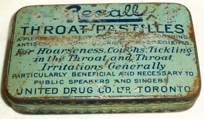 Rexall Throat Pastilles United Drug Co Toronto