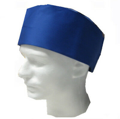 Size M Mesh Top Blue Color Chef Hat, Blue chef skull hat, chef uniform, chef hat