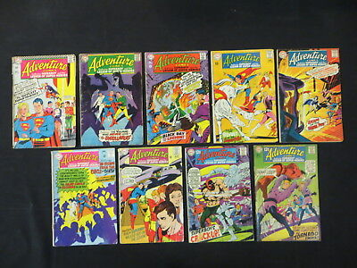 Adventure Comics #350 361 363-365 367 371-373 9 Issue Silver Age Lot Superboy