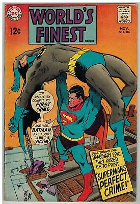 World's Finest Comics #180 1968 Neal Adams Cover Dc Silver Age!