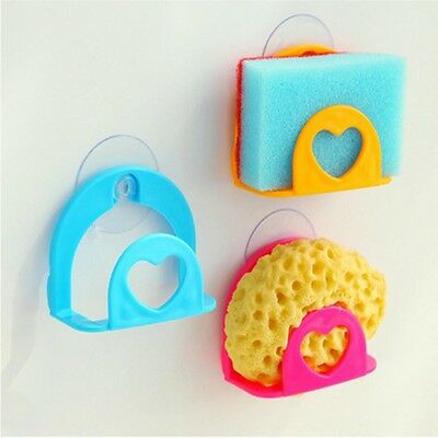 Useful Sponge Holder Suction Cup Convenient Home Kitchen Holder Kit Tools