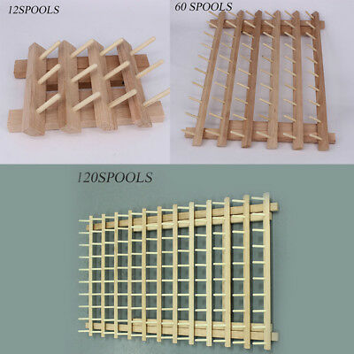 12/60/120 Spool Wood Sewing Thread Rack Stand Organizer Embroidery Holder Useful