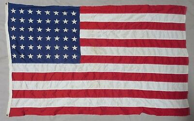 ORIGINAL WW2 Vintage US 48 STAR AMERICAN FLAG 4x6 by PREMIER FAST COLORS