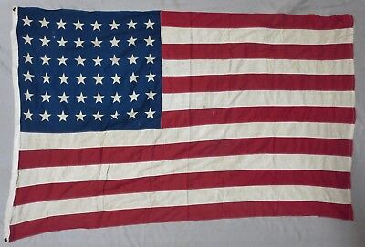 Used WW2 Vintage US 48 STAR AMERICAN FLAG ORIGINAL