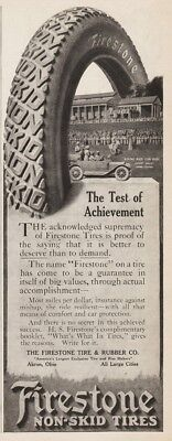 1913 Firestone Tire Rubber Akron OH Piping Rock Club House Locust Valley NY Ad