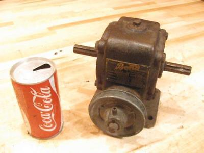 Good Used Heavy Duty Bond Speed Reducer Gearbox 18-1 Right Angle Through Shaft