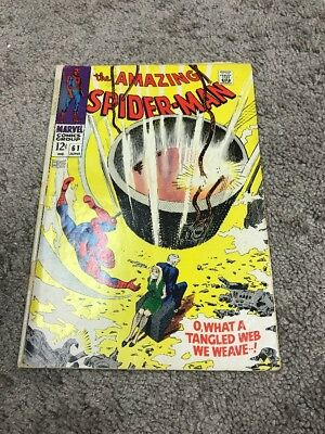 AMAZING SPIDER-MAN #61 1st GWEN STACY COVER DETACHED CENTERFOLD AND LOWER STAPLE