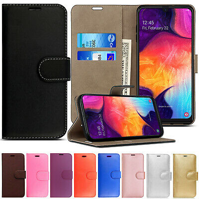 Case For Samsung Galaxy Phones Luxury Genuine Real Leather Flip Wallet Cover