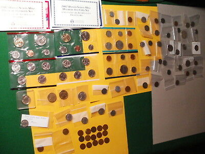 Collection of U.S. coins- mixed collection of uncirculated and circulated