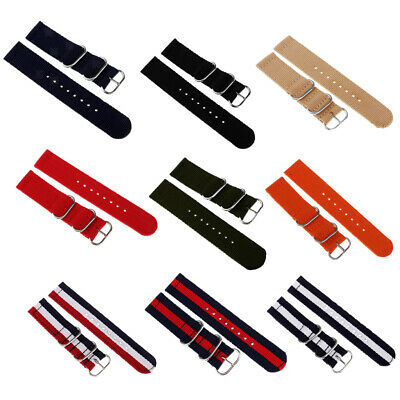 Unisex Infantry Sports Military Woven Nylon Canvas Fabric Watch Band Strap