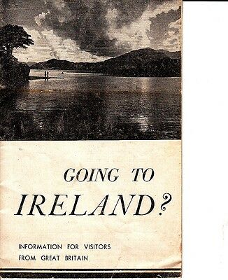 Going To Ireland?  Information For Visitors From Great Britain Vintage Booklet