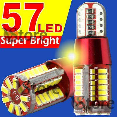 2 Lampade Red Style LED T10 Canbus 57 SMD 3014 BIANCO Posizione 12V 24V