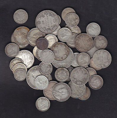 1858-1936 CANADA 5 TO 50CENTS SILVER COINS LOT OF 10oz