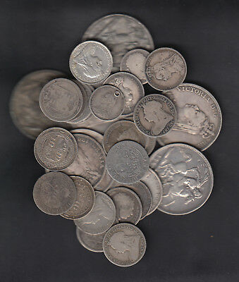 1800's GREAT BRITAIN SILVER COINS X30