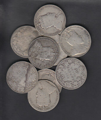 1902-10 Canada 50 Cents Silver Coin Lot Of 10