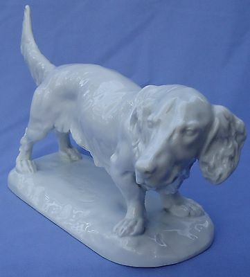 "15"" Long Haired Dachshund Dog Herend"