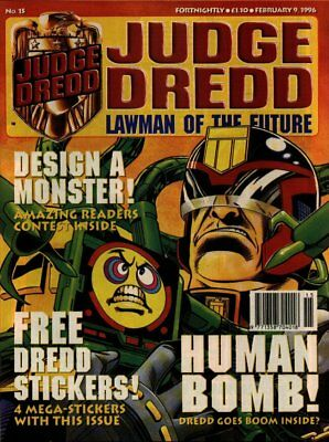JUDGE DREDD - LAWMAN of the FUTURE - Issue 15 (2000AD) 1996 - VGC