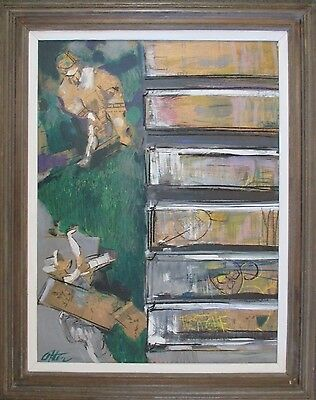 Large Bay Area Style Painting Abstract Expressionism Modernism Mid Century Vntg