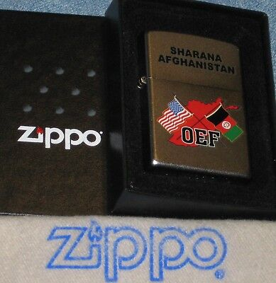 ZIPPO OEF MILITARY lighter SHARANA  AFGHANISTAN  Mint OPERATION ENDURING FREEDOM