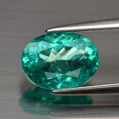 1.65ct 8.7x6.5mm Oval Natural Paraiba-Color Neon Blue Green Apatite