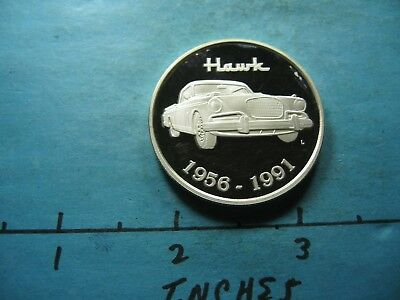 1956 1991 Studebaker Hawk Classic Car 999 Silver Coin Very Rare Cool Item