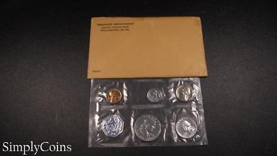 1960 Proof Set ~ Original Envelope With COA ~ US Mint Silver Coin Lot SKU-955
