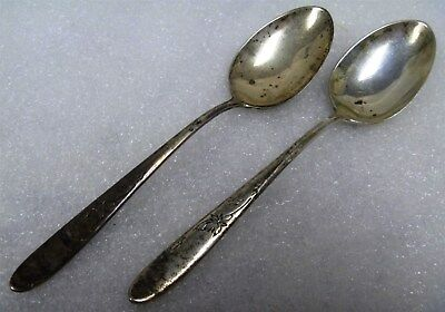 R) Pair of Antique Reed & Barton 925 Solid Sterling Silver Teaspoons 60g