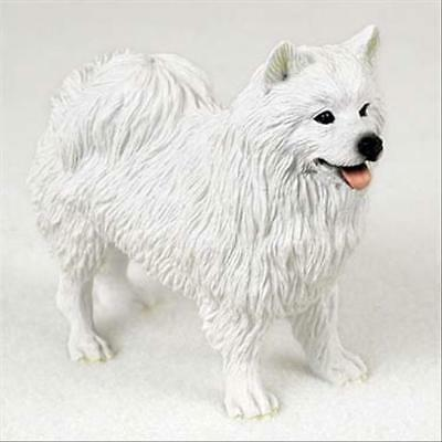 American Eskimo Dog Hand Painted Canine Collectable Figurine Statue