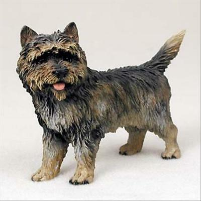 CAIRN TERRIER Brindle Dog Hand Painted Canine Collectable Figurine Statue