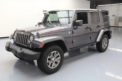 2014 Jeep Wrangler Unlimited Rubicon Sport Utility 4-Door 2014 JEEP WRANGLER UNLTD RUBICON X 4X4 6-SPD NAV 47K MI #196346 Texas Direct